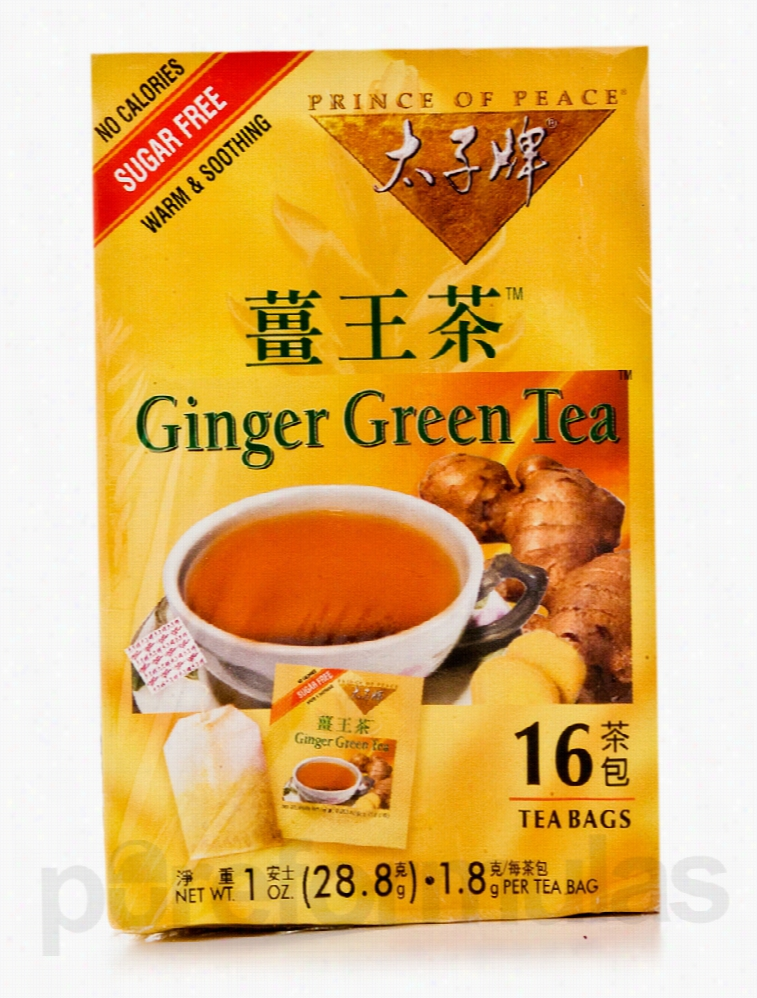 Prince of Peace Teas, Coffees and Beverages - Ginger Green Tea - Box