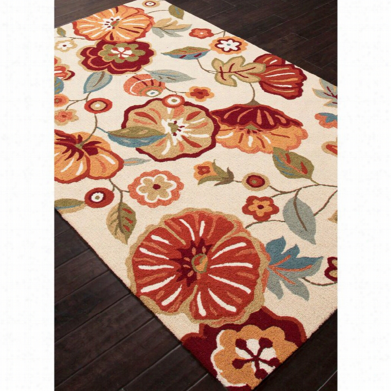 Jaipur Rugs Blossom Rosewood Indoor Area Rug, Size: 7.6 x 9.6 ft.