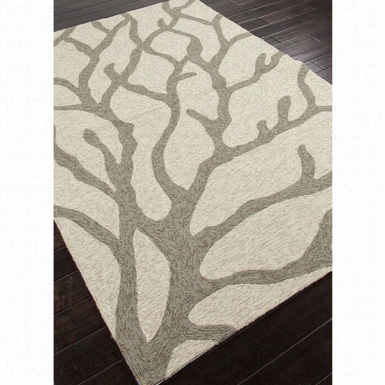 Jaipur Rugs Coastal Lagoon Coral Indoor/Outdoor Area Rug Teal, Size: 5 x 7.5