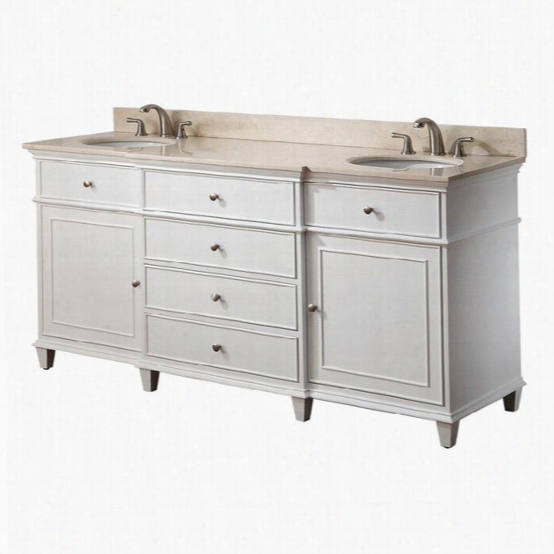 Avanity WINDSOR-V60-WT Windsor 60 in. Double Bathroom Vanity