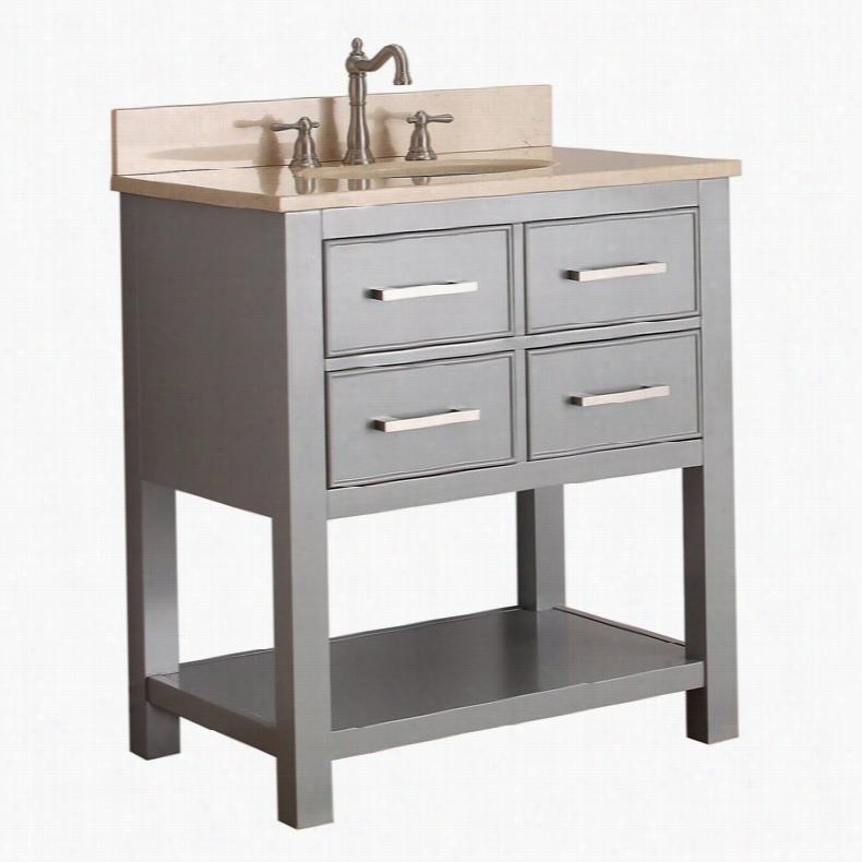 Avanity BROOKS-VS30-CG Brooks 30-in. Single Bathroom Vanity Without Top
