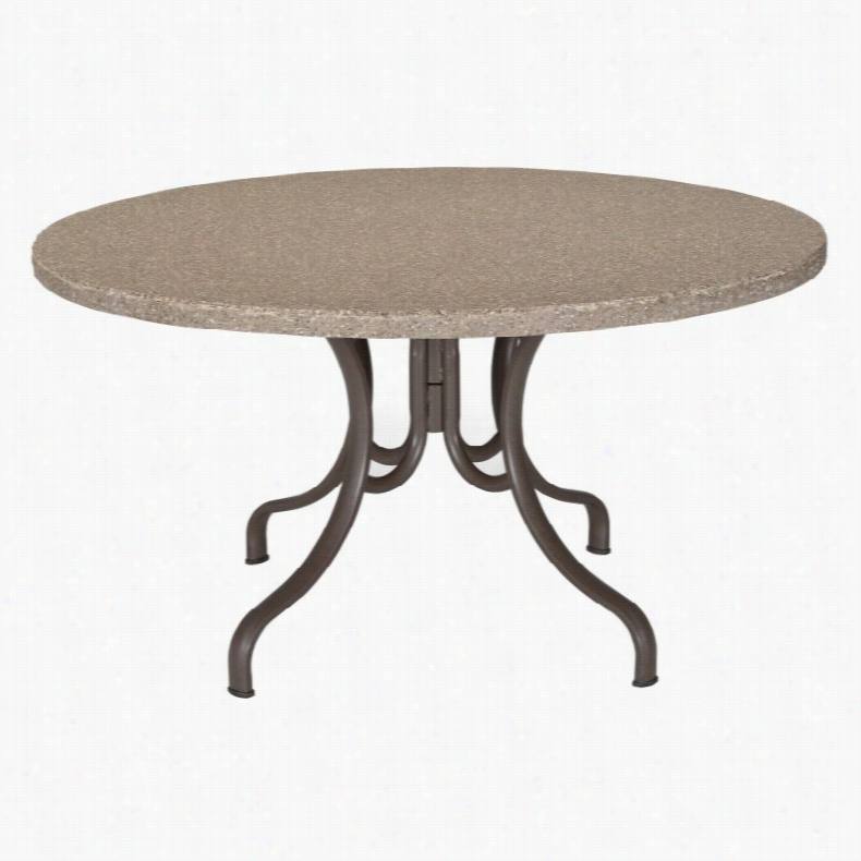 Telescope Casual 48 in. Round Synthestone Table Caramel Beachwood