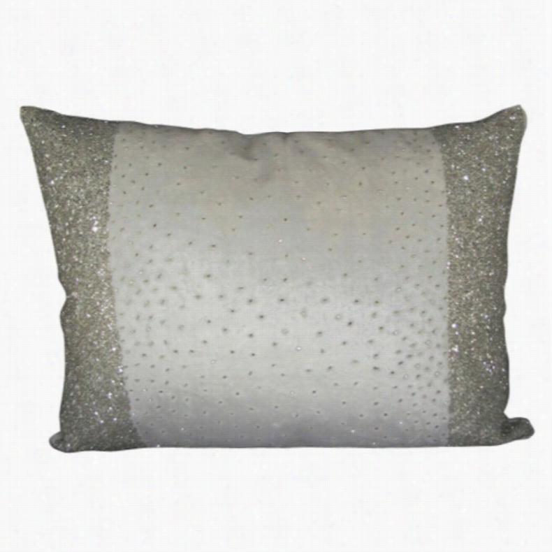 Design Accents Border Beads Velvet Pillow