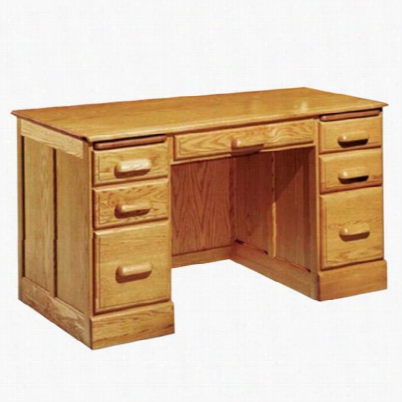 Haugen Customizable Deluxe Flat-Top Double Pedestal Desk