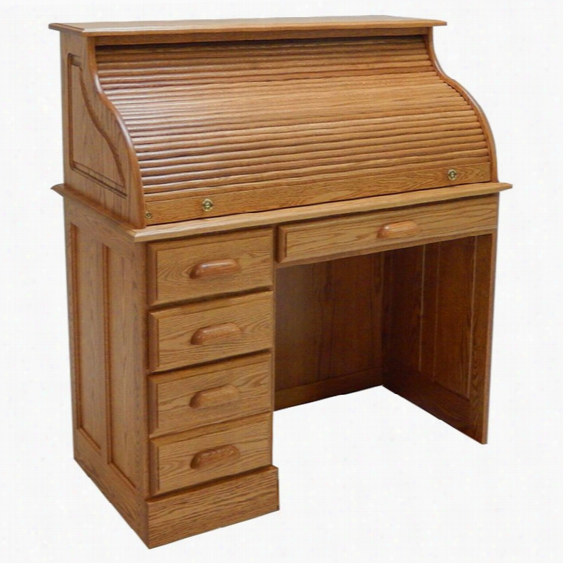Haugen Customizable Roll-Top Single Left Pedestal Laptop Desk