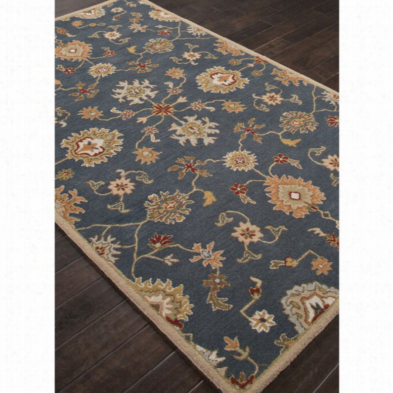 Jaipur Rugs Poeme Nantes Indoor Area Rug Midnight Navy, Size: 5 x 8