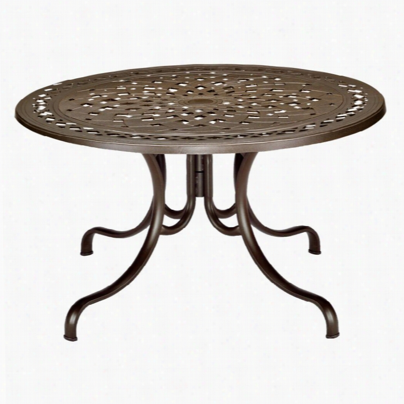 Telescope Casual 48 in. Round Cast Top Patio Dining Table