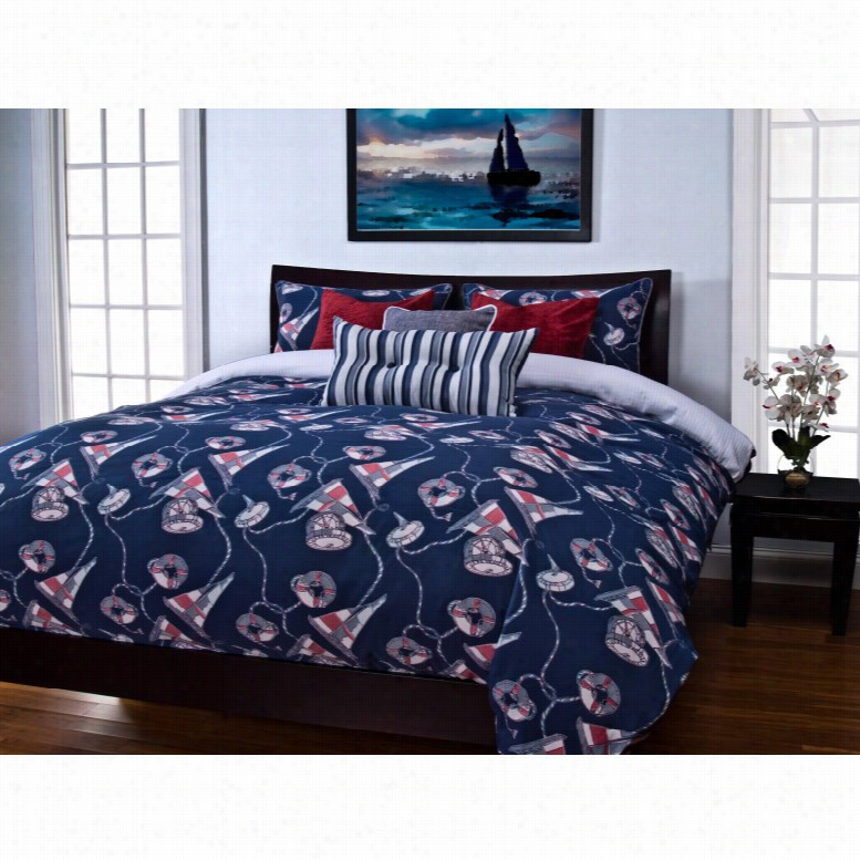 SIS Covers First Mate Blue Duvet Set, Size: Twin