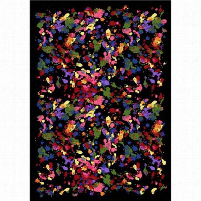 Joy Carpets Splatter Paint Area Rug, Size: 3 ft. 10 in. x 5 ft. 4 in.