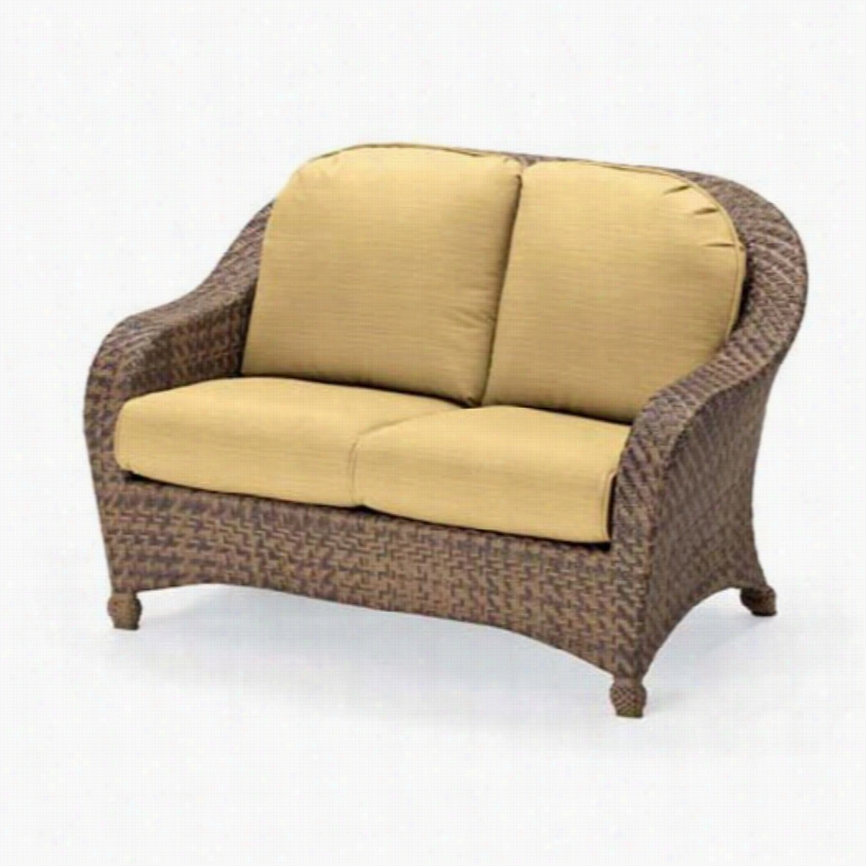 Telescope Casual Key Biscayne Deep Seat All-Weather 2-Seat Wicker Loveseat Canyon Dazzle