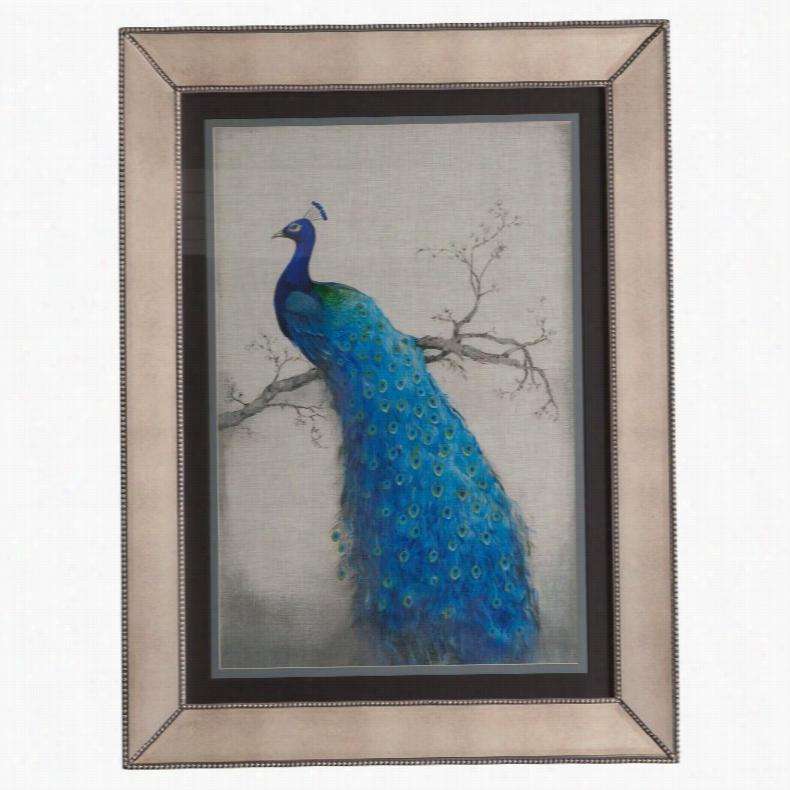 Bassett Mirror Peacock Blue II Framed Art