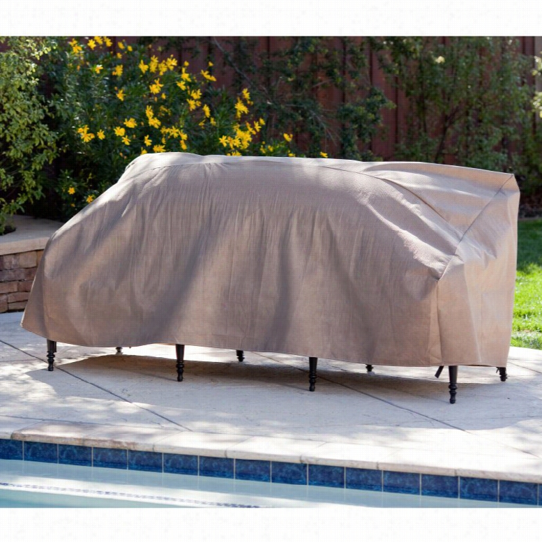 Duck Covers Elite Patio Loveseat Cover with Optional Rechargeable Inflator, Size: 62W x 38D x 35H in.