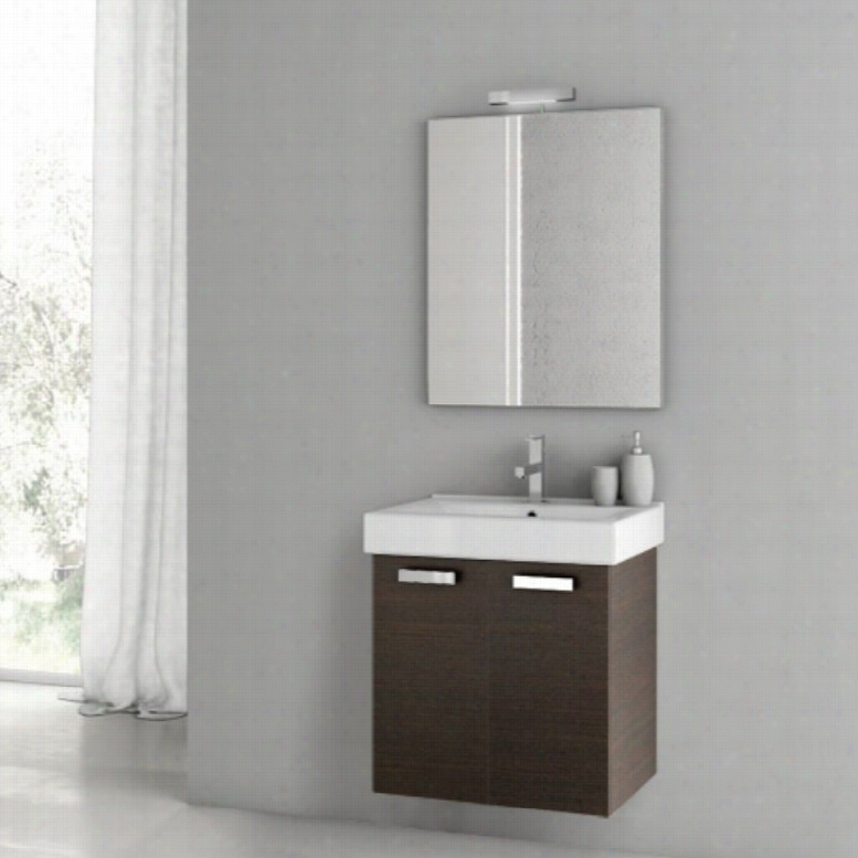 ACF by Nameeks ACF C02-W Cubical 22-in. Single Bathroom Vanity Set