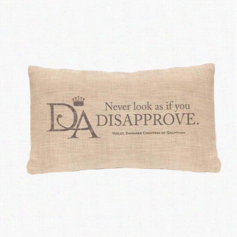 Heritage Lace Violets Wisdom Disapprove Decorative Throw Pillow