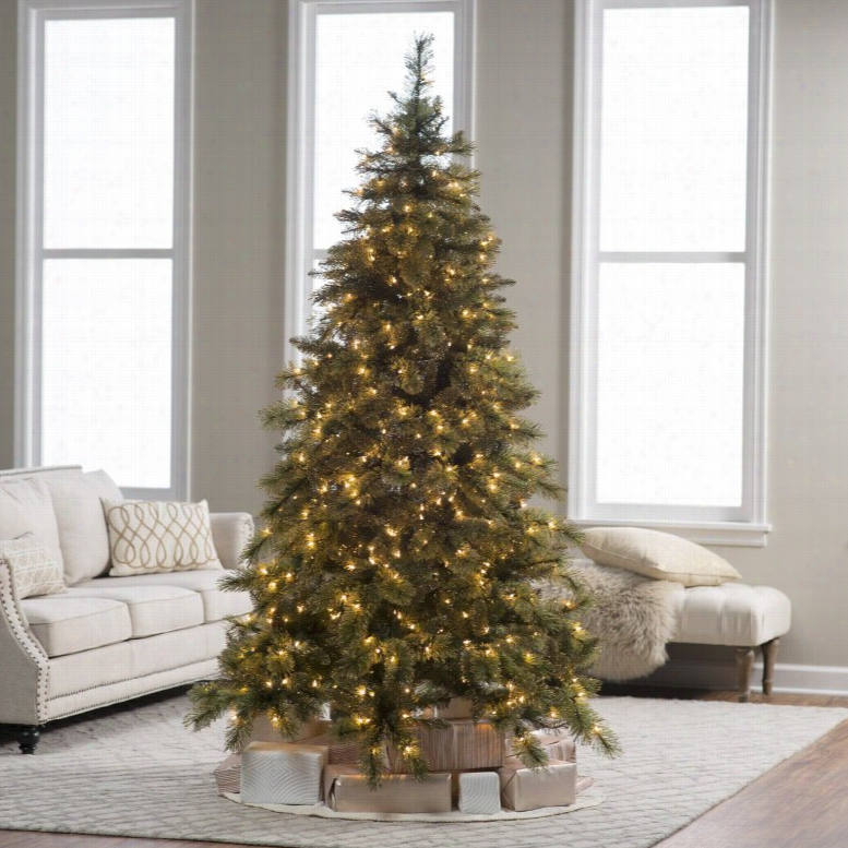 7.5 ft. prelit Mixed Needle Gold Glitter Cashmere Pine Christmas Tree by Sterling Tree Company