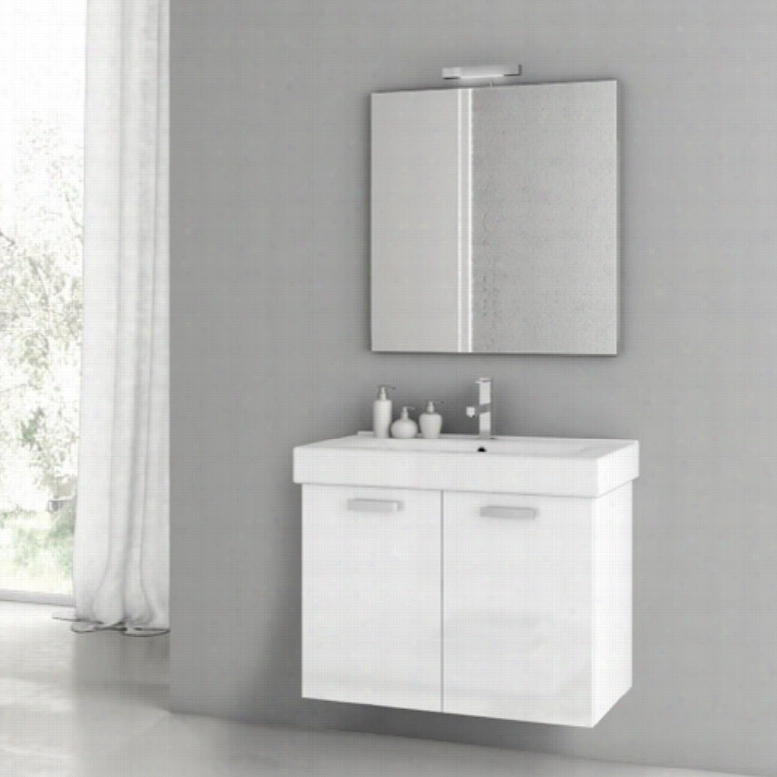 ACF by Nameeks ACF C03-GW Cubical 30-in. Single Bathroom Vanity Set