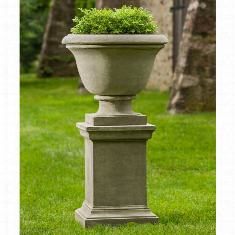 Campania International Greenwich Urn Planter with Pedestal