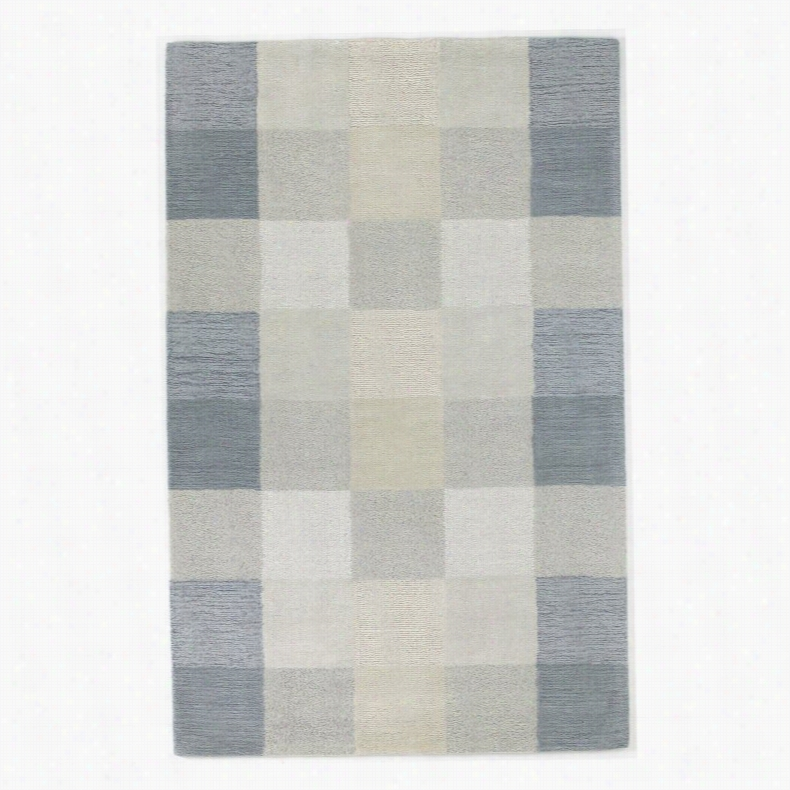 KAS Rugs Eternity 10 Checkerboard Area Rug Ivory, Size: 8 x 10.5 ft.
