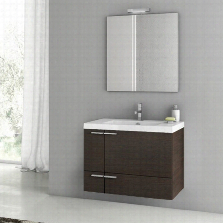 ACF by Nameeks ACF ANS02-W New Space 31-in. Single Bathroom Vanity Set