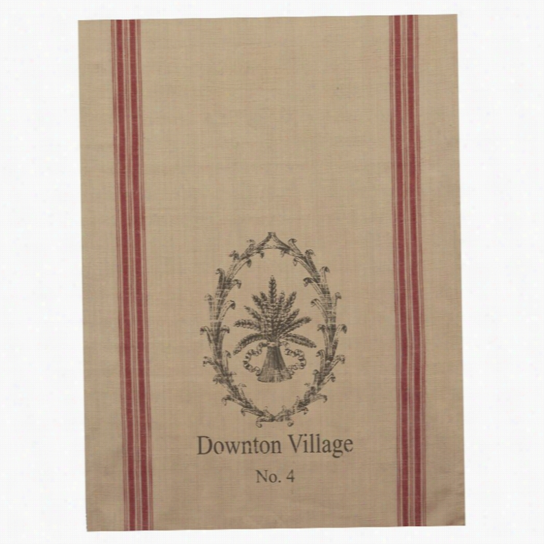 Downton Abbey by Heritage Lace Downstairs Kitchen Wheat Tea Towel