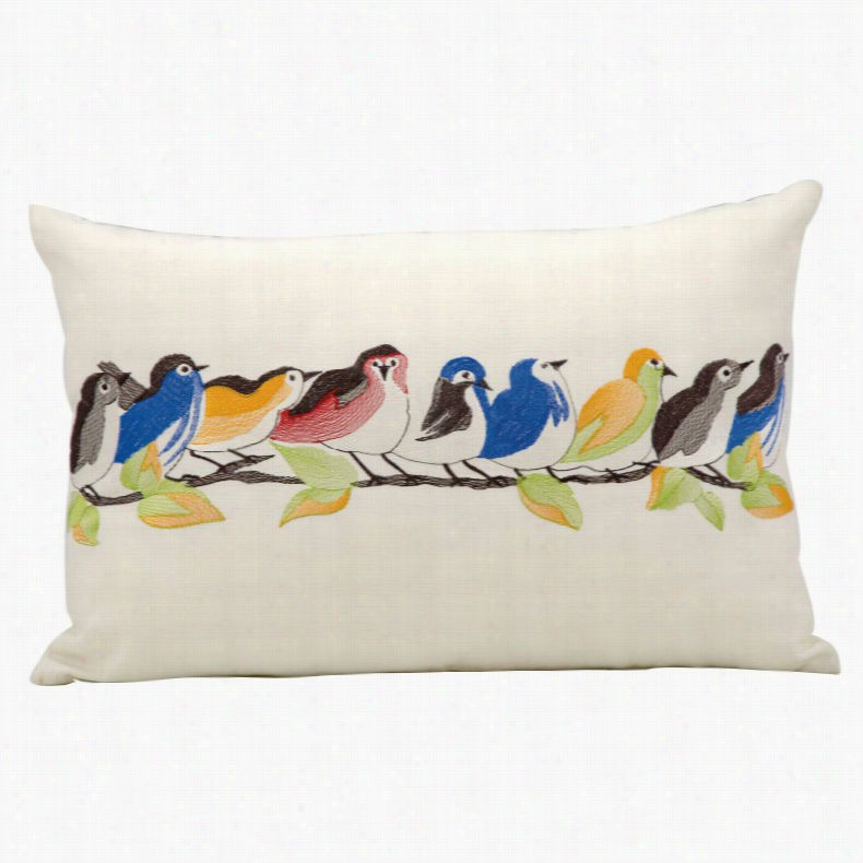 Mina Victory Birds on a Branch Outdoor Throw Pillow, Size: 12 x 18 in.