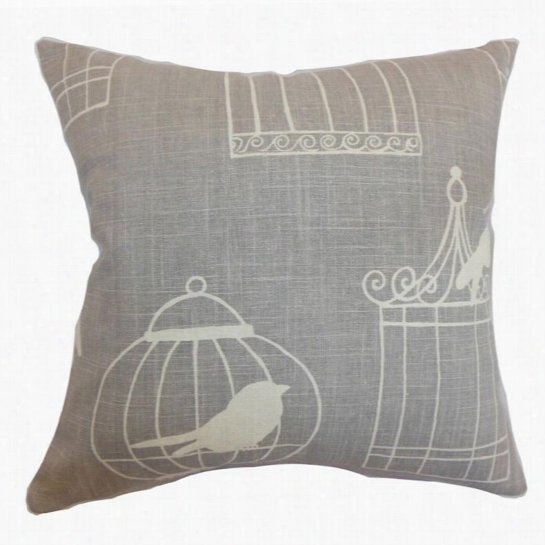 The Pillow Collection Alconbury Birds Pillow Aquadisiac