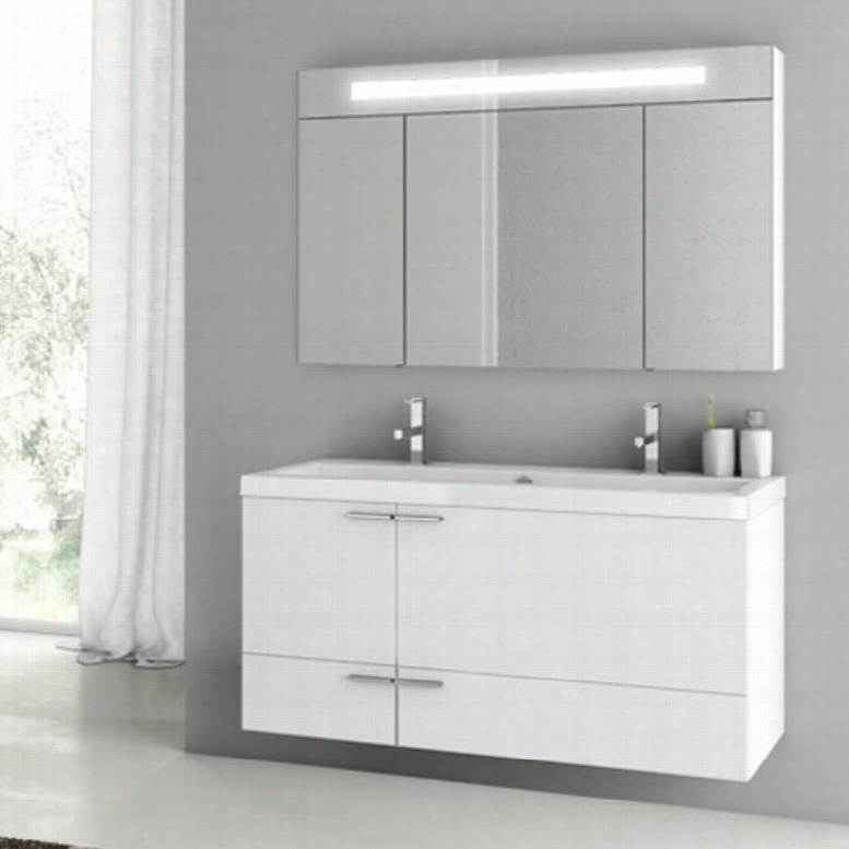 ACF by Nameeks ACF ANS10-GW New Space 47-in. Double Bathroom Vanity Set