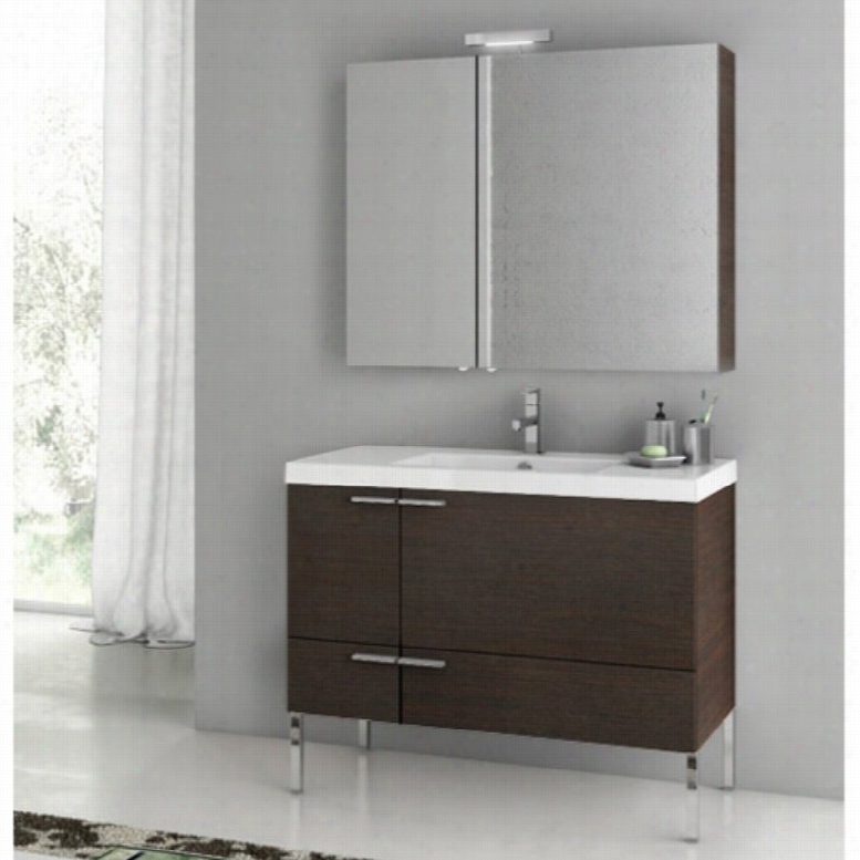 ACF by Nameeks ACF ANS26-W New Space 39-in. Single Bathroom Vanity Set