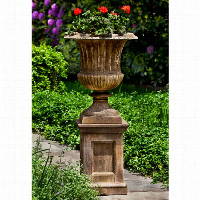Campania International Smithsonian Classical Urn Planter with Barnett Pedestal