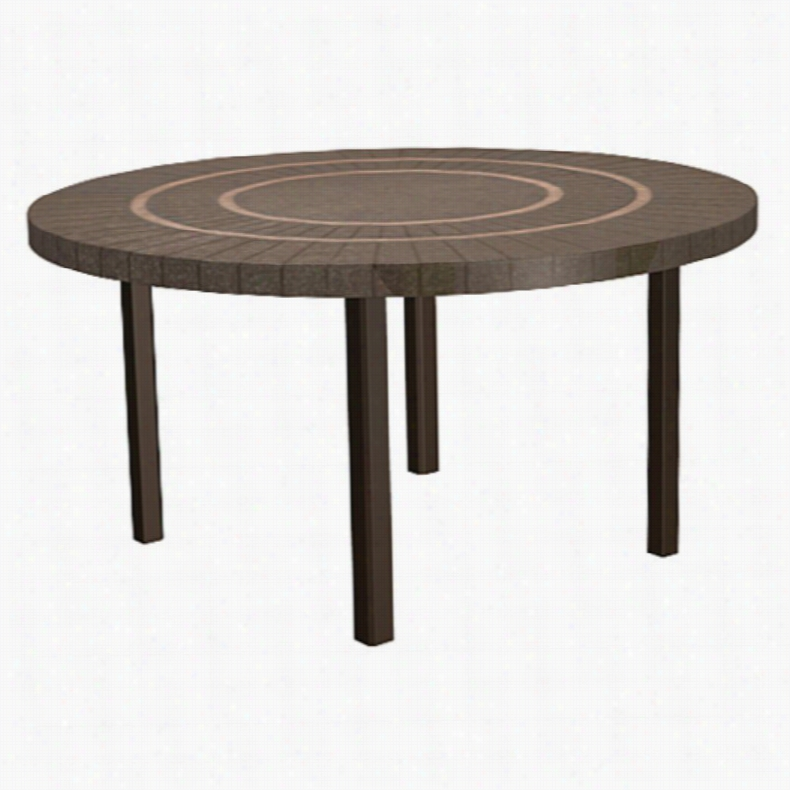 Homecrest Sorrento Universal Round Patio Dining Table Sterling Cocoa Bronze, Size: 42 in.