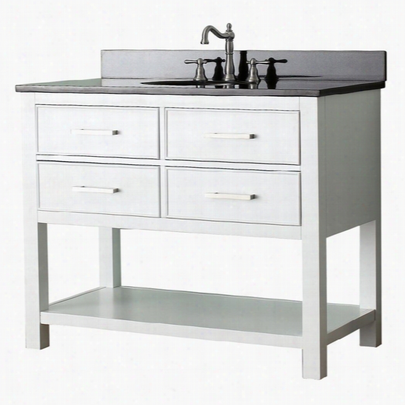 Avanity BROOKS-VS42-WT Brooks 42-in. Single Bathroom Vanity Without Top