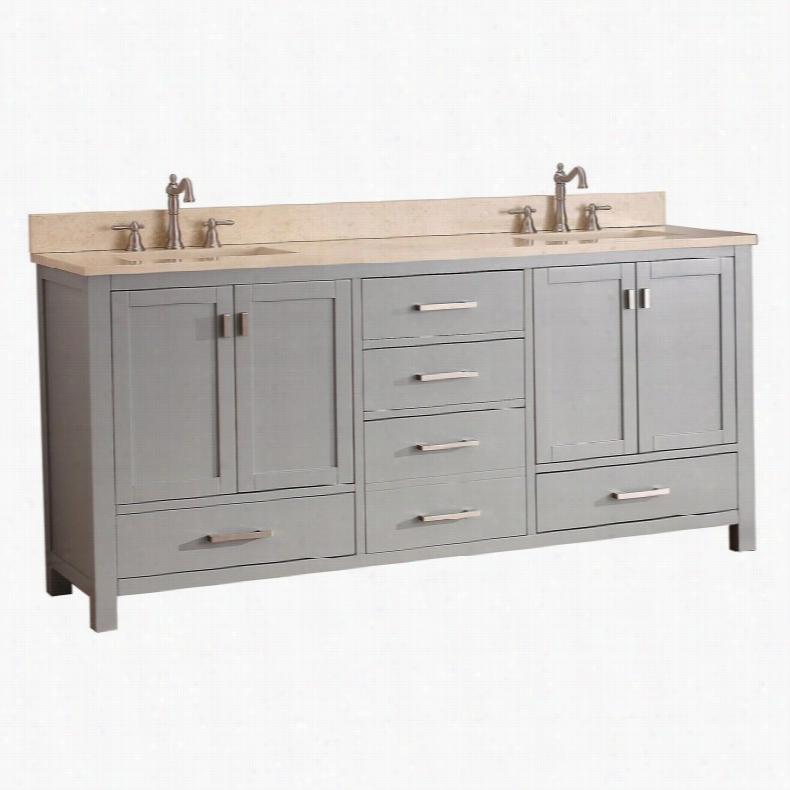 Avanity MODERO-VS72-CG Modero 72-in. Double Bathroom Vanity Granite Black Top
