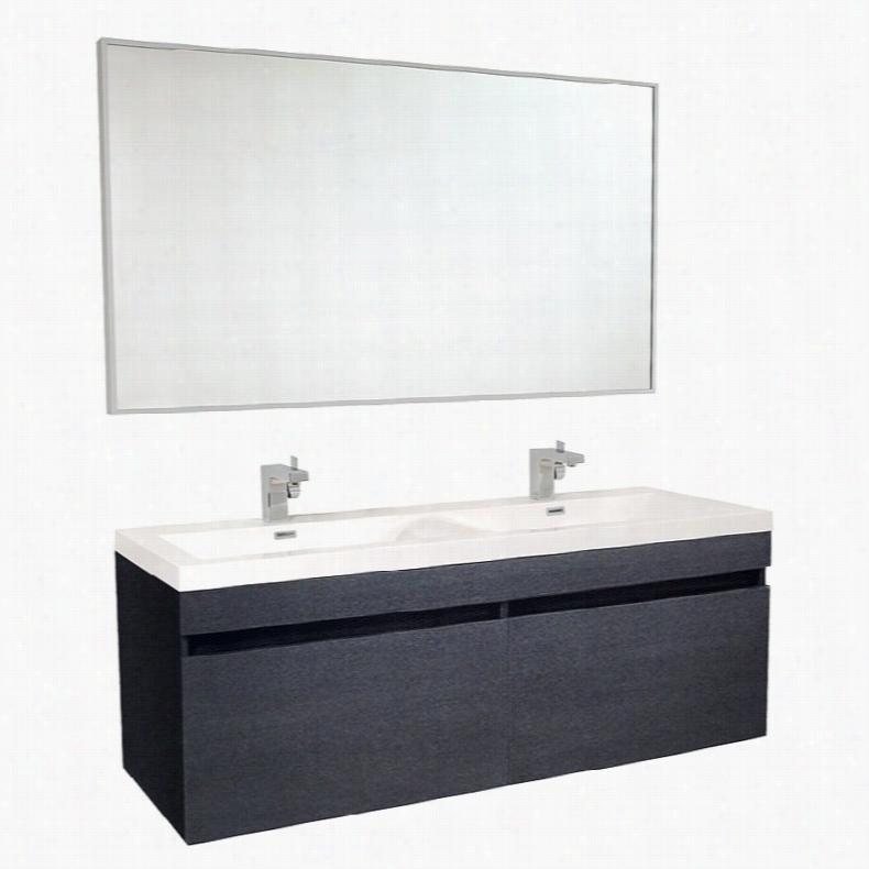 Fresca FVN8040 56 in. Largo Double Bathroom Vanity