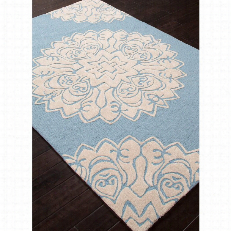 Jaipur Rugs Devine Aquarius Area Rug Milky Blue, Size: 7.6 x 9.6 ft.