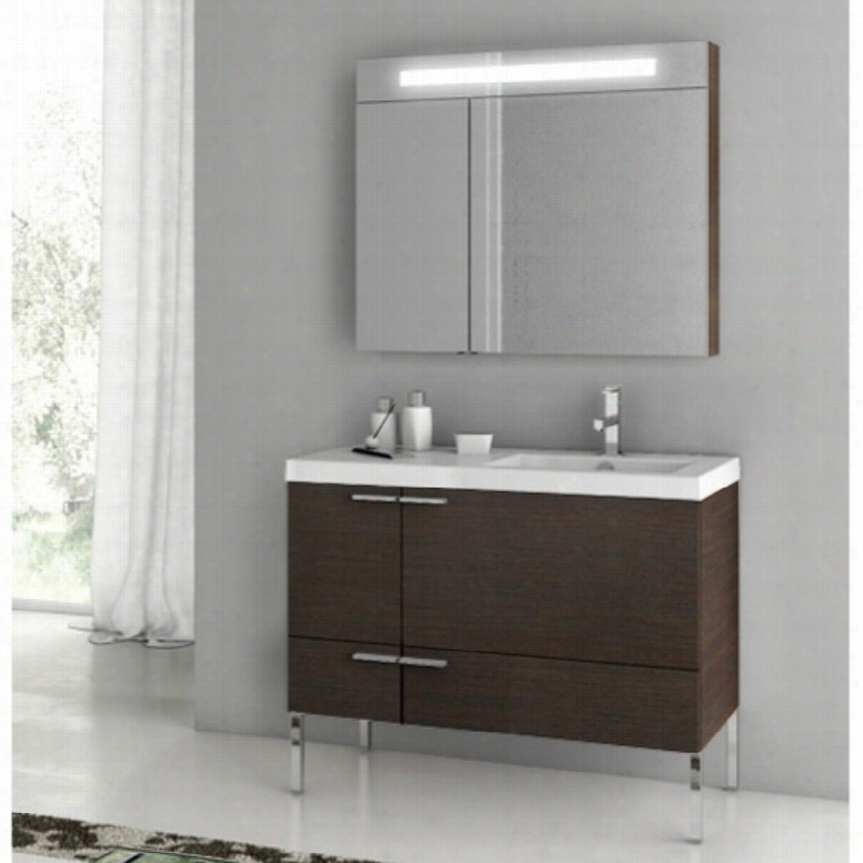 ACF by Nameeks ACF ANS23-W New Space 39-in. Single Bathroom Vanity Set
