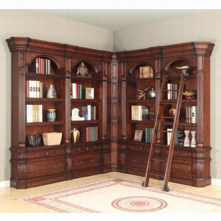 Parker House Versailles Estate 4 Piece Corner Museum Bookcase
