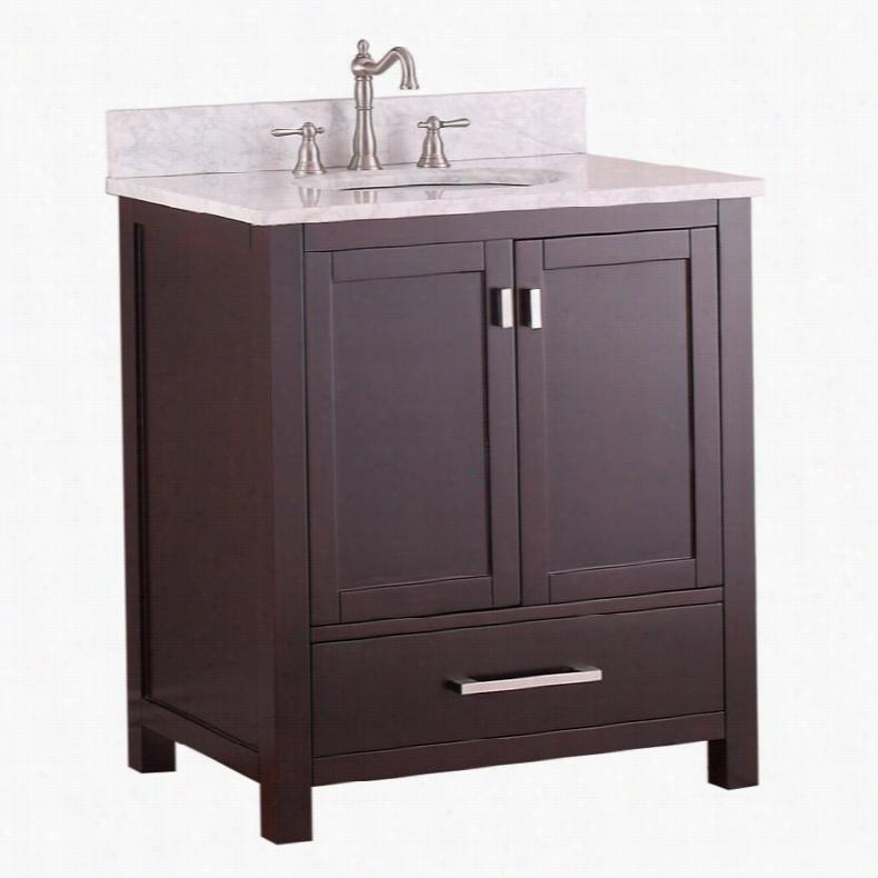 Avanity MODERO-VS30-ES Modero 30-in. Single Bathroom Vanity Granite Black Top