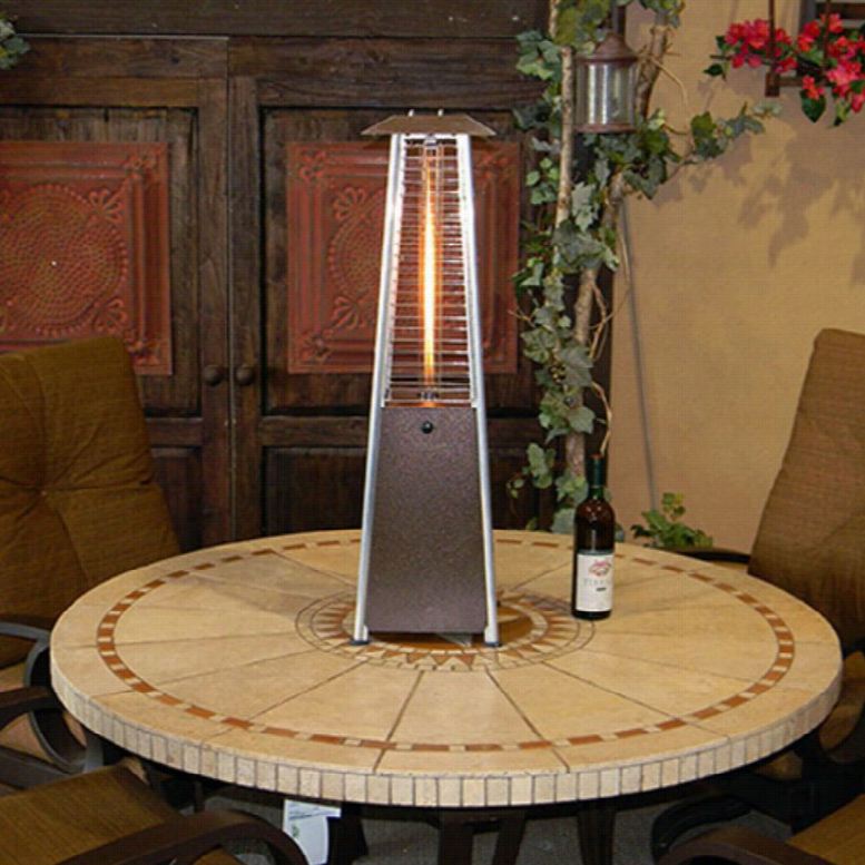 AZ Patio Heater Bronze Portable Glass Tube Tabletop Heater
