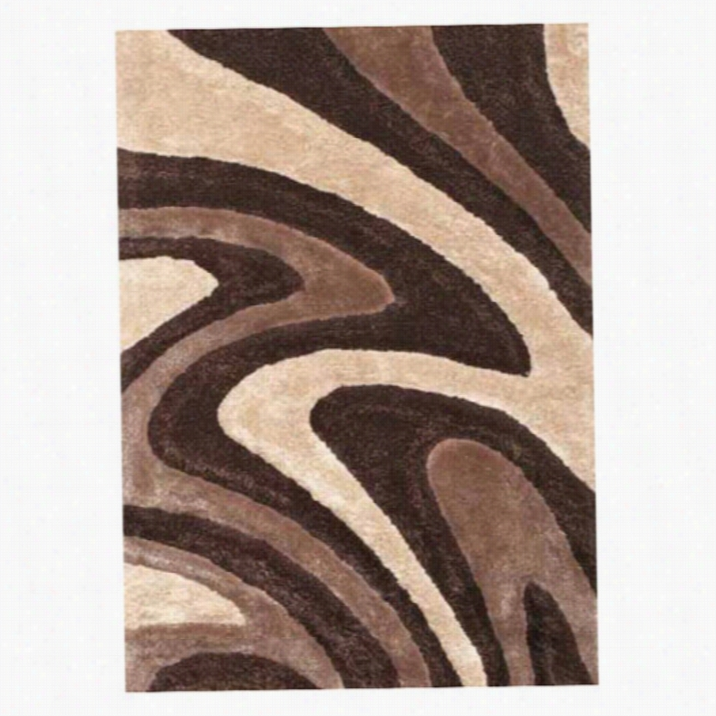 KAS Rugs Metropolitan 355 Waves Area Rug Blue, Size: 7.5 x 9.5 ft.