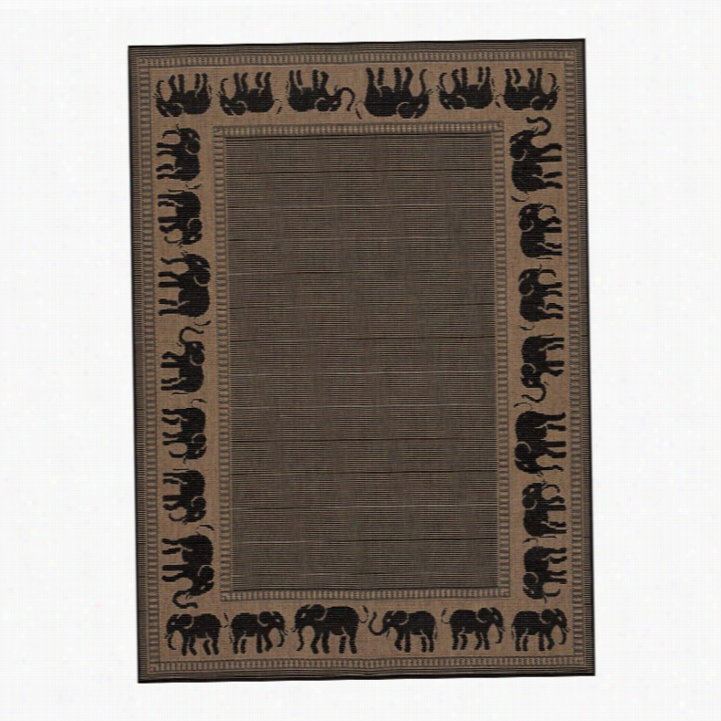 Couristan 1588-1021 Recife Cocoa Indoor/Rug, Size: 8.6 x 13 ft.