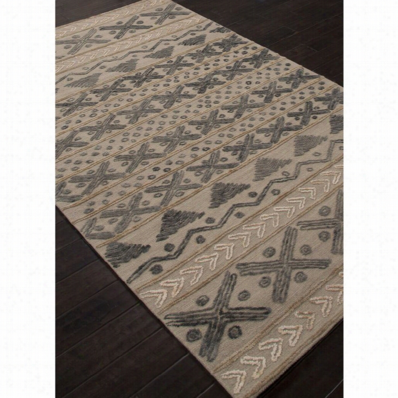 Jaipur Rugs Stitched Etched Indoor Area Rug Cement, Size: 8 x 11 ft.