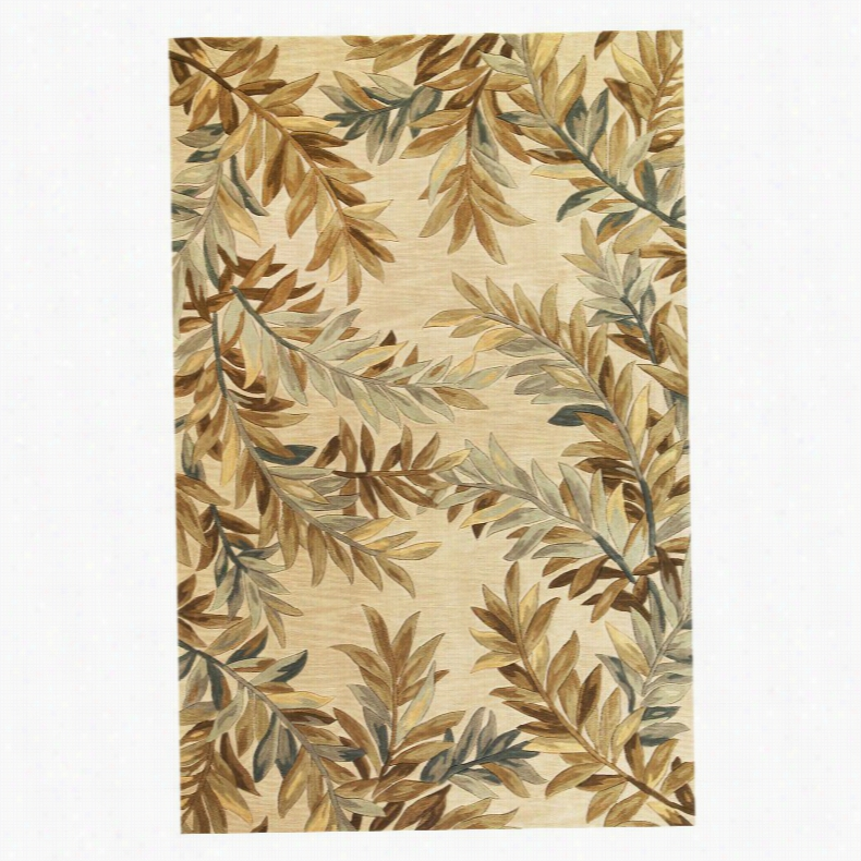 KAS Rugs Sparta Tropical Branches Sage, Size: 7.9 x 9.6 ft.
