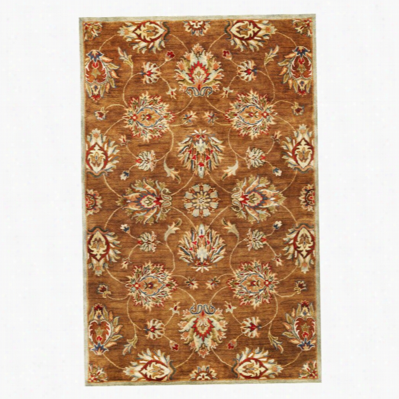 KAS Rugs SYR600 Syriana Kashan Area Rug Coffee Allover Kashan, Size: 9 x 13 ft.