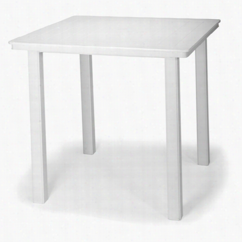 Telescope Casual Marine Grade Polymer Square Bar Height Table Beachwood, Size: 42 in.