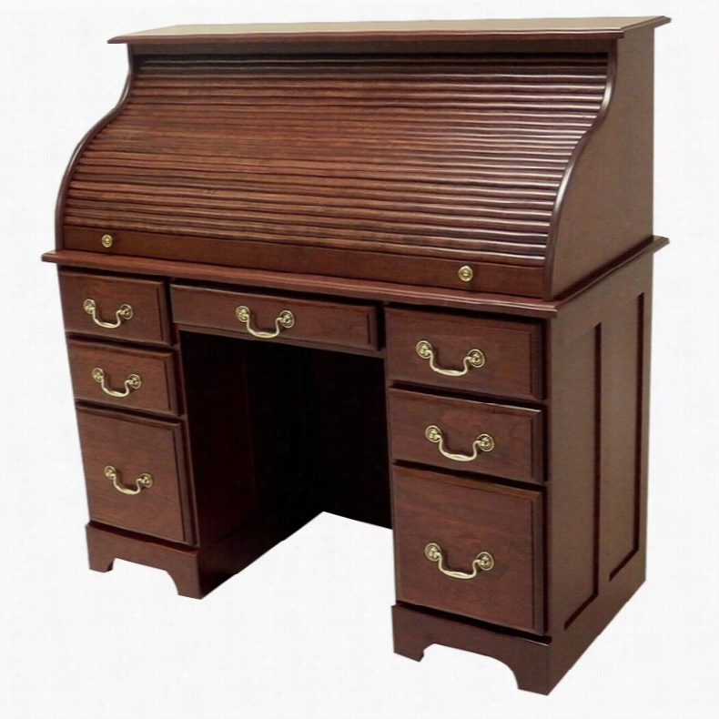 Haugen Customizable Deluxe Roll-Top Double Pedestal Desk