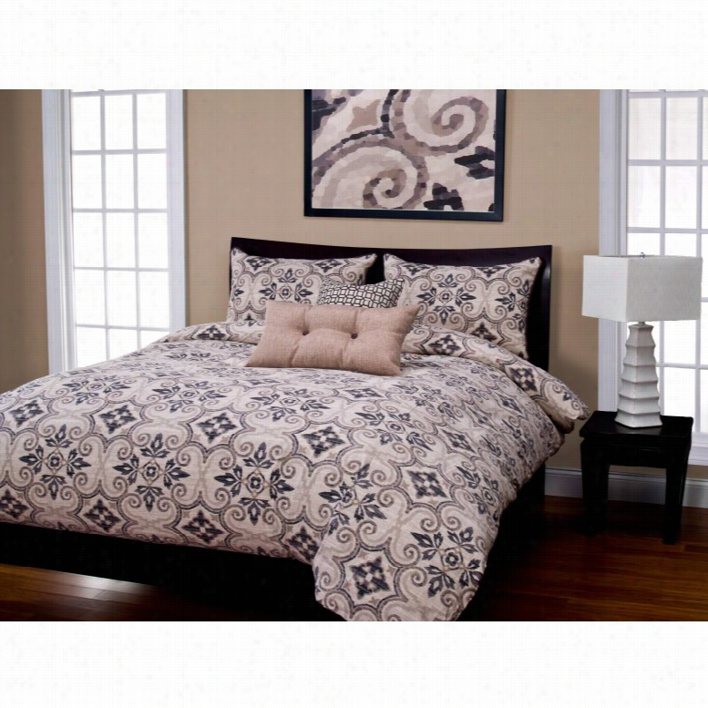 SIS Covers Sumatra Graphite Duvet Set, Size: Full