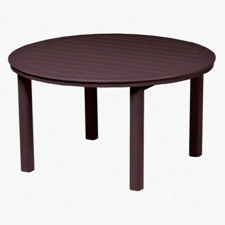 Telescope Casual 54 in. Marine Grade Polymer Round Table Textured Snow