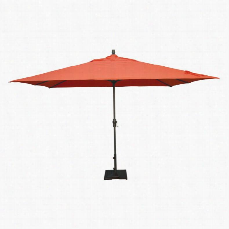 Treasure Garden 8 x 11 ft. Aluminium Crank Patio Umbrella Sunbrella Cocoa
