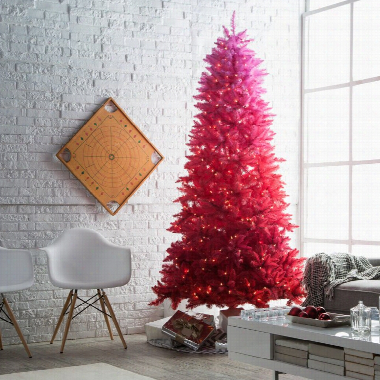 7.5 ft. Red Ombre prelit Christmas Tree by Sterling Tree Company