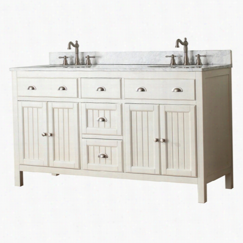 Avanity HAMILTON-VS60-FW Hamilton 60-in. Double Bathroom Vanity Without Top